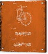 Folding Bycycle Patent Drawing 2e Acrylic Print