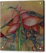 Foliage And Ornaments Acrylic Print
