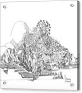 Foliage Trees And Rocks Acrylic Print