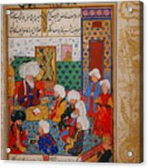 Folio From A Divan Of Mahmud Acrylic Print