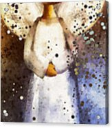 Folk Art Angel Acrylic Print