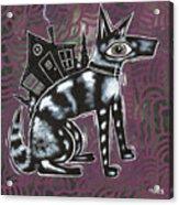 Dog House Folk Art Acrylic Print