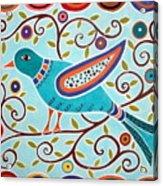 Folk Bird Acrylic Print