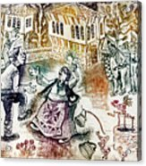 Folk-dancing Acrylic Print