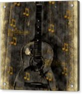 Folk Guitar Acrylic Print
