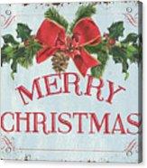 Folk Merry Christmas Acrylic Print