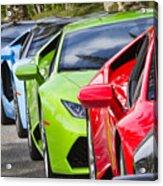 Follow That Lamborghini Acrylic Print