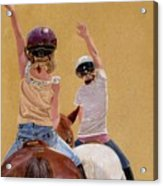 Follow The Leader - Horseback Riding Lesson Painting Acrylic Print