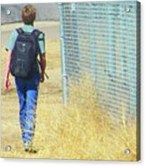 Following The Fence Home Acrylic Print