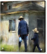 Follows In His Footsteps Acrylic Print