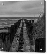 Folly Beach Anti Erosion Pier Acrylic Print