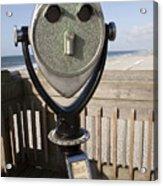 Folly Beach Pay Binoculars Acrylic Print