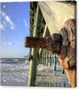 Folly Beach Pier Decay Acrylic Print