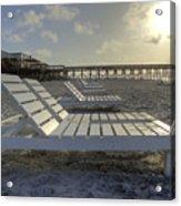 Folly Beach Sunrise Lounger Acrylic Print