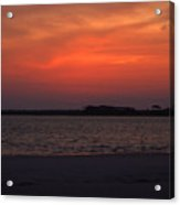 Folly Beach Sunset Acrylic Print