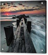 Folly Beach Tale Of Two Sides Acrylic Print
