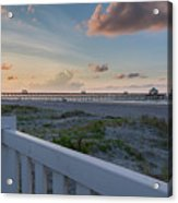 Folly Pier Sunrise Acrylic Print