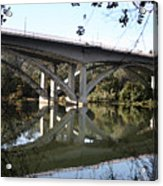 Folsom Bridge-watercolor Acrylic Print