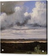 Fontainebleau Storm Over The Plains Jean-baptiste-camille Corot Acrylic Print