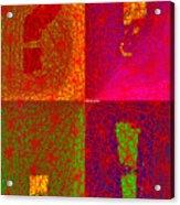 FontArt Series  I Love You Acrylic Print
