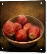 Food - Apples - A Bowl Of Apples  Acrylic Print