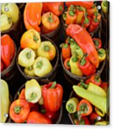 Food - Peppers Acrylic Print by Paul Ward