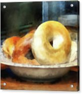 Food - Bagels For Sale Acrylic Print