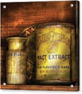 Food - Blue Ribbon Malt Extract Acrylic Print