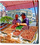Food Booth In Valparaiso Square-chile Acrylic Print
