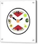 Food Clock Acrylic Print