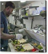 Food Truck Worker Acrylic Print