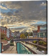 Foot Bridge At Gas Street Basin  Birmingham Acrylic Print