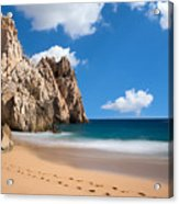 Foot Prints In Cabo Acrylic Print