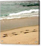Foot Prints In The Sand.jpg Acrylic Print