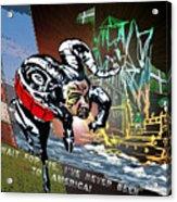 Football Derby Rams Against Plymouth Pilgrims Acrylic Print