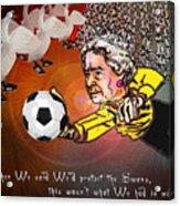 Football Derby Rams Against Swansea Swans Acrylic Print