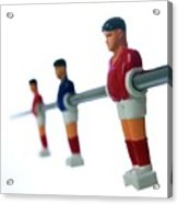 Football Figurines Acrylic Print