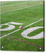 Football On The 50 Yard Line Acrylic Print