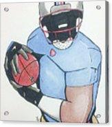 Football Player Acrylic Print by Loretta Nash