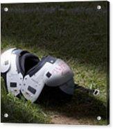 Football Shoulder Pads Acrylic Print