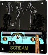 Football Tour Scream Acrylic Print