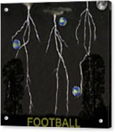 Football Universe Acrylic Print