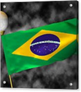Football World Cup Cheer Series - Brazil Acrylic Print