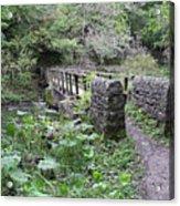 Footbridge At Millers Dale Acrylic Print