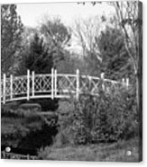 Footbridge In Black And White Acrylic Print