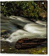 Footbridge Over Raging Moccasin Creek Acrylic Print