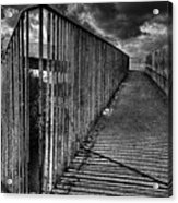 Footbridge Railings Acrylic Print