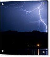 Foothills Lake Lightning Extreme Weather Storm Acrylic Print