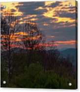Foothills Parkway Dawn Acrylic Print
