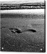 Footprint Bw Acrylic Print